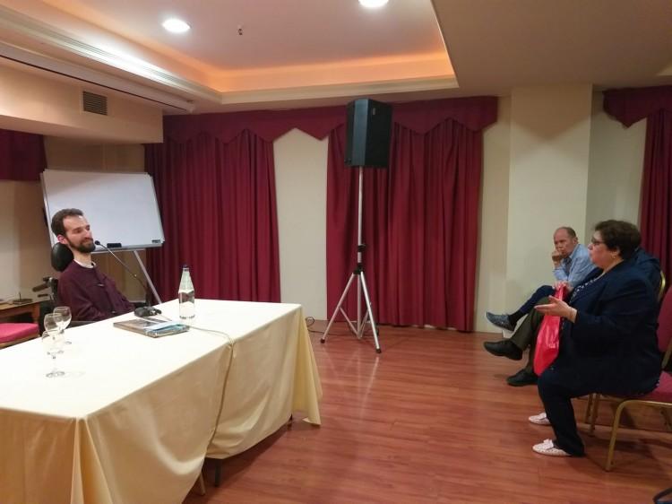 Συνάντηση με τον Υποψήφιο Ευρωβουλευτή Νέας Δημοκρατίας κ. Στέλιο Κυμπουρόπουλο. Γνωριμία και ανταλλαγή απόψεων.